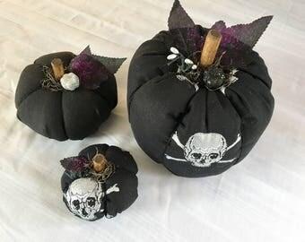 Skull Fabric Pumpkins