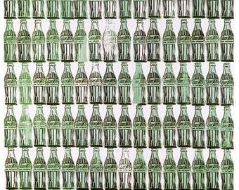 Green Coca-Cola Bottles.