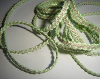 LACE BRAID in green linen & Twine ¤ 190 CM