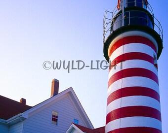 West Quoddy Head Light, Lubec, Maine Coast! MS-9945 Wall Art Home Decor Art Modern Art Lighthouse Art Lighthouse Photography