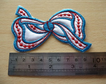 applique embroidered knot sew 10 cm x 7 cm for sewing and decorating, badge, patch
