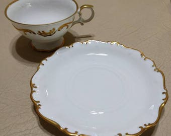 Golden Elegance Teacup and Saucer - Schumann Arzberg Germany
