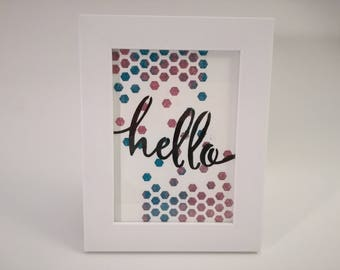 "Decorative frame ""hello"""