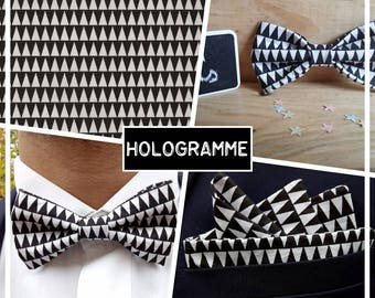 """Bow adult """"HOLOGRAM"""" black and white collection"""