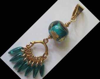 GOLD FILLED 14 KT, gold plated VERMEIL 14KTet pendant made by me!