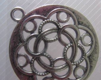 very large sterling silver antiqued