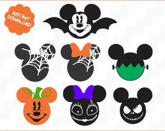 Halloween Mickey Minnie svg, Halloween Mickey Minnie svg files, Halloween Mickey Minnie, Halloween Mickey Minnie Svg,png,dxf
