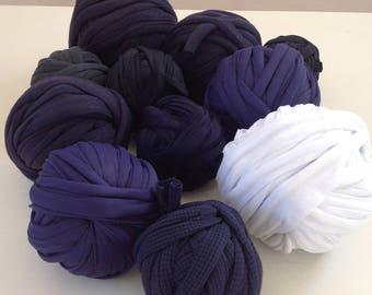 Set A 05 Trapilho 700g to 1000g multicolor yarn