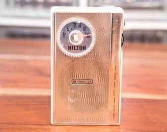 Fully Restored Rare Hilton Vintage Transistor Radio 1950's!
