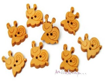 Set of 10 buttons snails scrapbooking card making embellishment *.