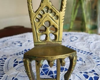 Vintage Tiny Brass Chair