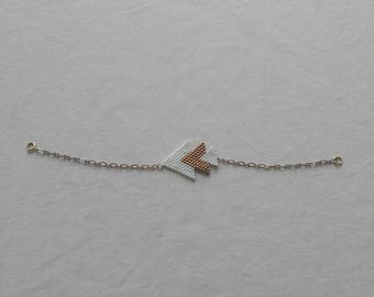 Triangle bracelet is made with miyuki beads