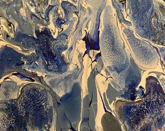 Aruba- 8x10 Abstract Acrylic Painting