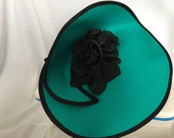 Green formal hat