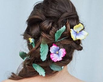 Velvet for the bridal hair flower