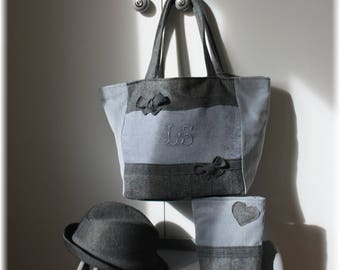 Pack bag & pouch in shades of gray