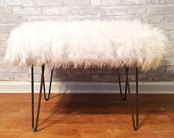 Luxury Faux Fur Bench