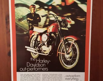 Harley Davidson vintage reproduction poster
