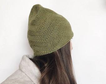 FREE shipping! Green chevron wool hat