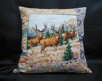 "Collection ""Indian summer"", square Cushion cover 3 deer (C301)"