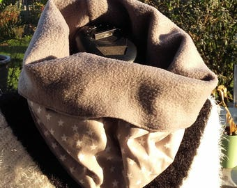 Snood gray scarf for men or women in winter