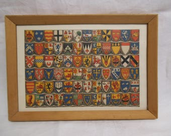Coats of Arms of The Scottish Clans - Framed & Glazed Print