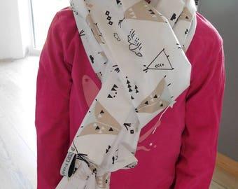 "lightweight cotton scarf ""teepee"""