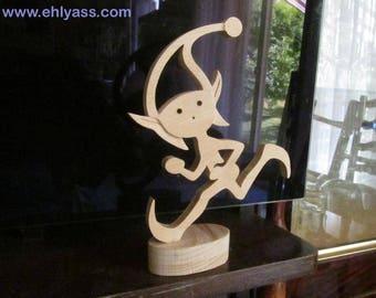 PIXIE power fretwork wooden sculpture