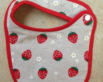 Bib birth Terry strawberries collection