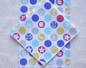 set of 2 nautical theme kids handkerchiefs