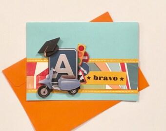 """Congratulations card boyfriend """"Bravo"""" - 3D picture drivers license"""