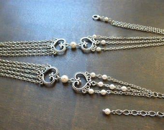 Retro style wedding headband swarovski pearls