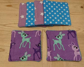 Eco-friendly wipes Fawn set of 6 designs