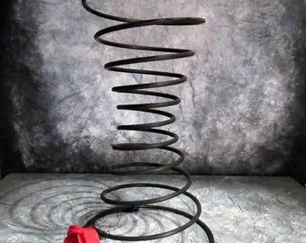 Red rose spring vase