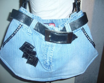 jeans and belt bag customize fully lined