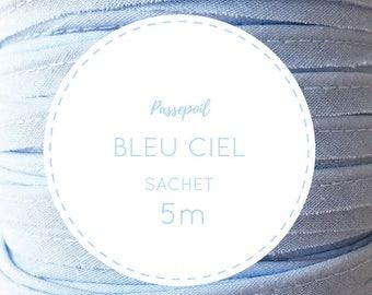 Sachet 5 m cotton piping - sky blue