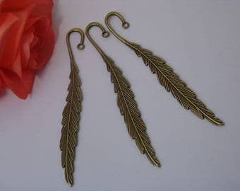 Bookmark bronze feather