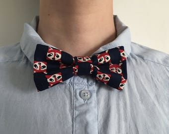 Bow tie pattern raccoon, bow tie pet accessory man or woman