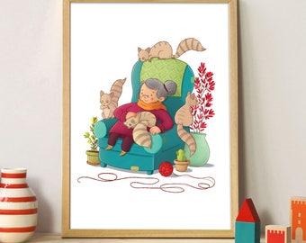 """Illustration: Madeleine """"Grandma"""""""