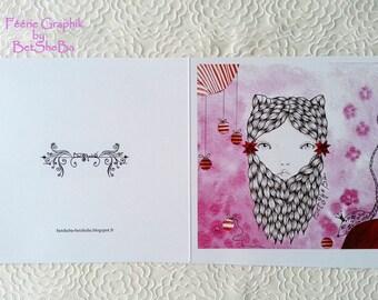 """Art card """"Mia or mouse"""""""