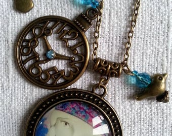 """Pendant necklace cabochon """"Awaiting spring"""""""