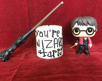 Harry Potter Inspired Candle // You're A Wizard Harry //