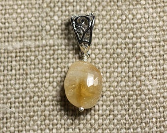 Pendant - Citrine faceted 16mm Olive N7 necklace