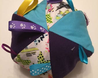 Doudou multicolored balloon with matching ribbons