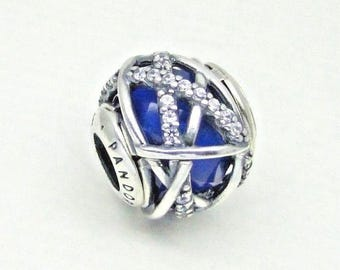 Authentic Pandora Royal Blue Galaxy Silver 796361NCB