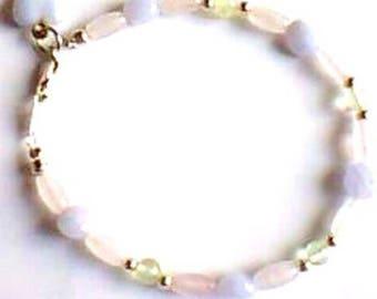 Bracelet - gemstones - pastel - Silver 925