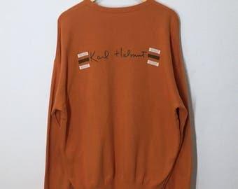 RARE!! Vintage Karl Helmut Spellout on the Back sweatshirt Jumper Pullover