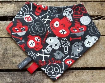Red and black bandana bib