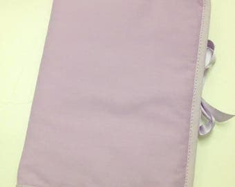 Health Book personalize flocking, applique etc. Purple color fabric outline choice.
