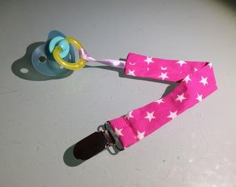 """Pink star"" pacifier"